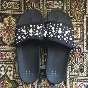 A new day beaded slides